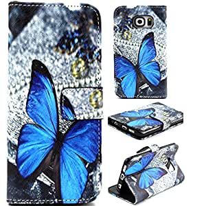 For Samsung Galaxy S6 Edge,Galaxy S6 Edge Case Wallet,S6 Edge Case Wallet,Samsung Galaxy S6 Edge Case,Samsung Galaxy S6 Edge Case Wallet,Candywe Slim Fit Print PU Flip Leather Case Cover For Samsung Galaxy S6 Edge 045