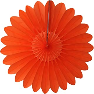 product image for 6-Pack 18 Inch Tissue Paper Hanging Fanburst (Orange)