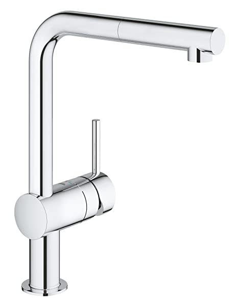 Grohe Minta Single Lever Kitchen Tap With Pull Out Spray Head High