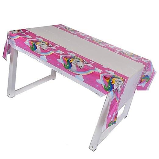 TRIXES Mantel Multicolores Unicornio para Fiestas Cumpleaños Infantiles