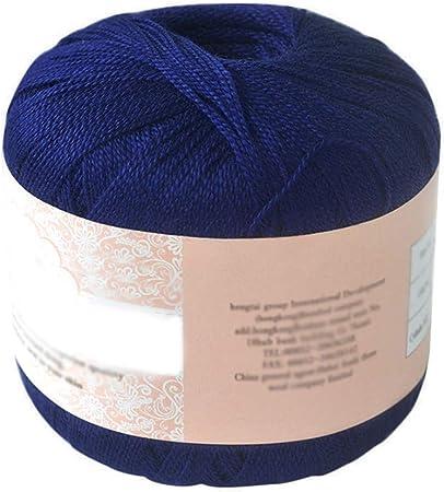 Hilo de algodón mercerizado para bordar, ganchillo, para tejer, joyería de encaje. - geshiglobal. 24#: Amazon.es: Hogar