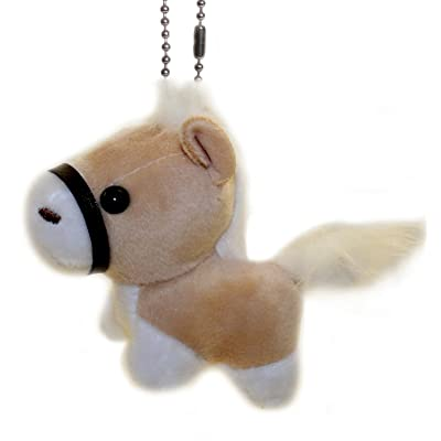 "Lucore 3"" Shetland Pony Plush Stuffed Animal Toy - Hanging Horse Doll Lucky Charm Keychain: Toys & Games"