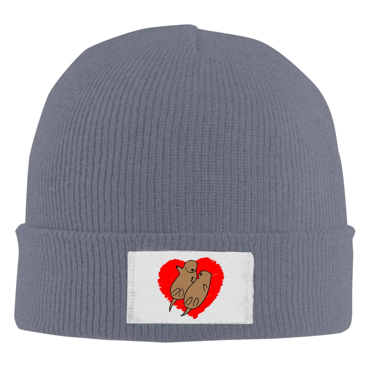 Skull Caps Mouse Lovers Winter Warm Knit Hats Stretchy Cuff Beanie Hat Black