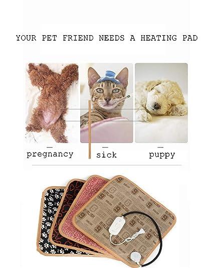 YXMxxm Almohadilla Térmica Eléctrica para Mascotas, Almohadilla Calefactora Resistente al Fuego e Impermeable para Masticar Perros Gato para Perros Pequeños ...
