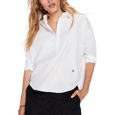 261d9124240 Maison Scotch Loose Tunic Summer Womens Shirt White XL: Amazon.co.uk:  Clothing