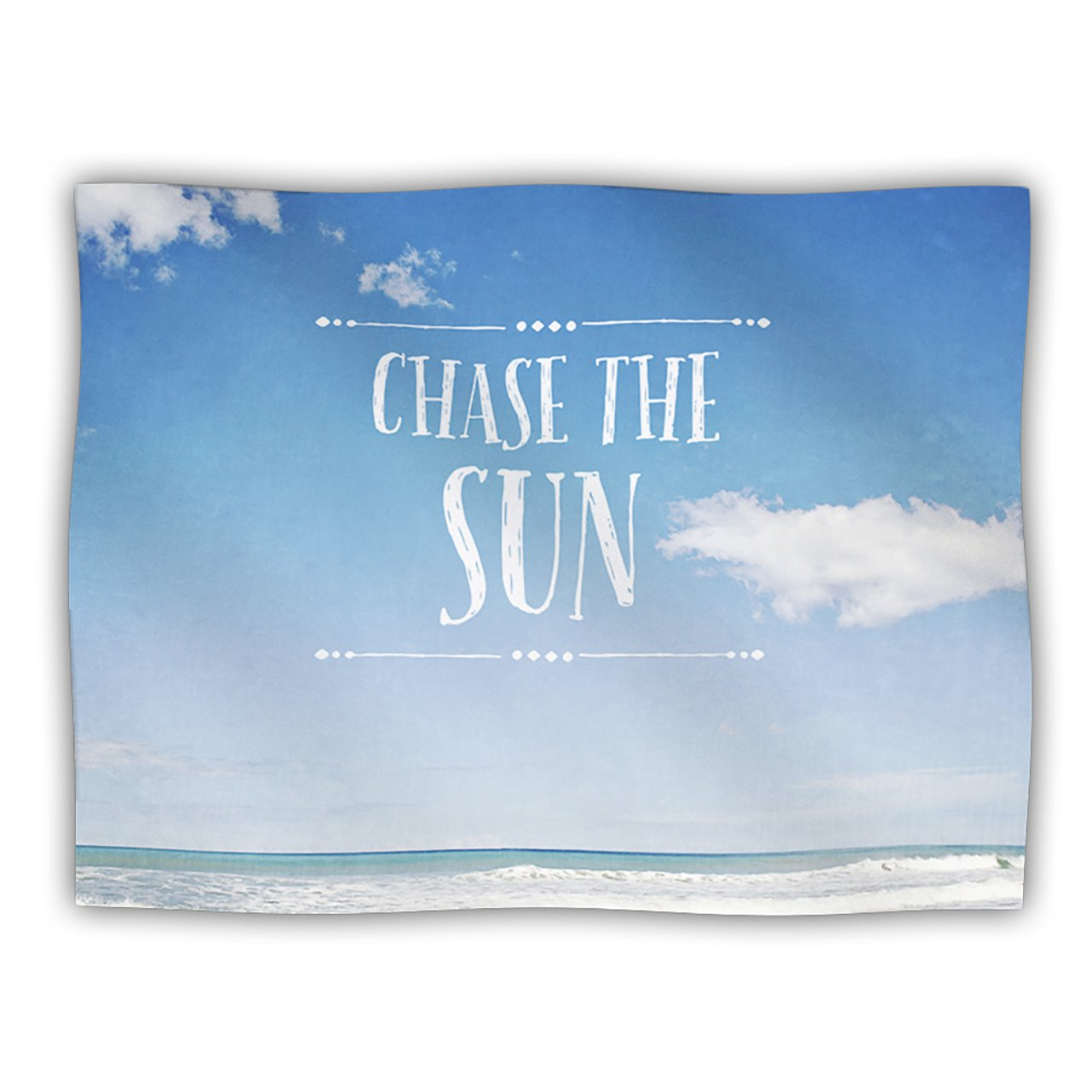 Kess InHouse Susannah Tucker Chase The Sun Beach Sky Pet Dog Blanket, 40 by 30-Inch