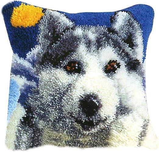 Gift2U Latch Hook Kit,Bird DIY Throw Pillow Cover Sofa Cushion Cover 16X16 inch Animal Pattern Paint Cross Stitch Squirrel