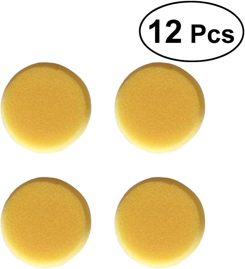 Ultnice 12/pcs ronde Peinture /éponge Craft /éponges pour la peinture poterie daquarelle /éponges Jaune