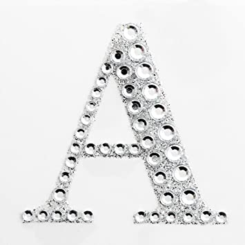 Diamante Number Stickers Large Self Adhesive 5cm Silver Glitter Craft Numbers
