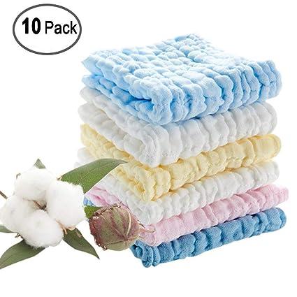 Toalla de baño para bebé de algodón natural Moonvvin para recién nacido, suave toalla para la ...