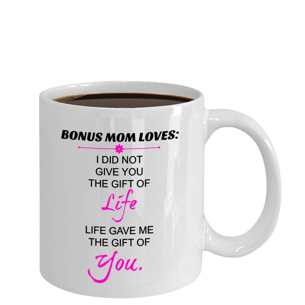 Amazon.com: Bonus mom mug- Great gifts for stepmom as a Mothers day ...