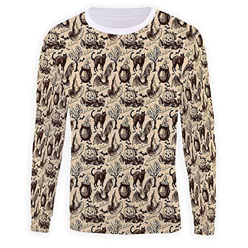 Unisex Crew Vintage Halloween Pullover Sweater]()