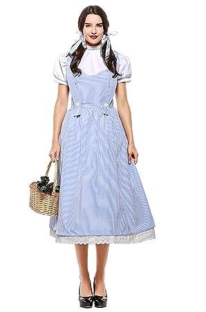 LLS-Disfraz de dama medieval /Vestido elegante de Oktoberfest/Discoteca Queen Disfraz /