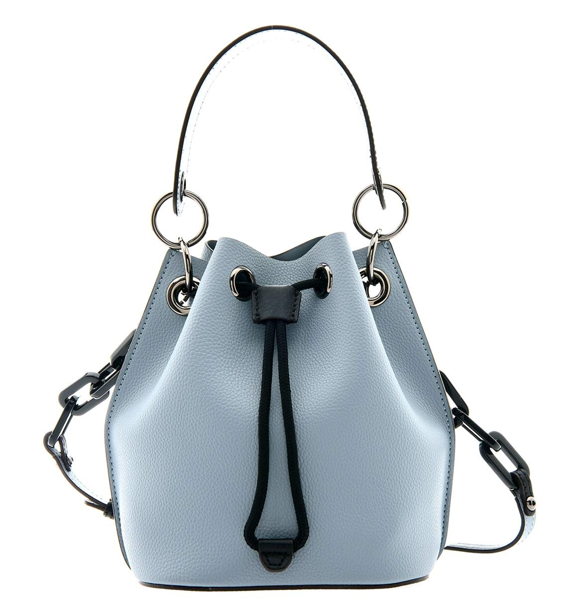 LOUIS QUATORZE Leather String Bucket Bag with Wrist Strap for Women  HM3LB07AB baaf5f0d55