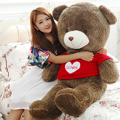 Giant Teddy Bear With Stuffed Plush Animals Bear Toys For Christmas Valentine's Day Birthday Party Holiday 47 (Valentine Day Teddy Bear)
