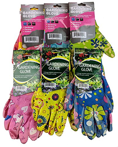 Women's Knit Gardening Gloves with Nitrile Coated