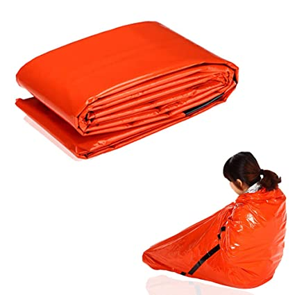 Greetuny 1pcs Desechable Saco de Dormir Emergencias Portátil Ligero Seguridad Impermeable Sacos de vivac Acampada Sleeping