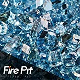Fireglass Fireplace Fire Pit Glass, ~1/4″ Pacific Blue Reflective, 10 LBS For Sale