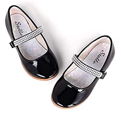 2802d3954865 STELLE Girls Mary Jane Shoes Slip-on Party Dress Flat for Kids Toddler (8MT