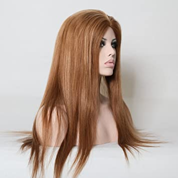 Amazon.com   Wigsroyal No Glue Wig Medium Ash Brown Hair Color   Beauty 4f72d13cf260