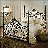 Hillsdale Furniture 1450BKR Parkwood Bed Set with Rails, King, Black Gold