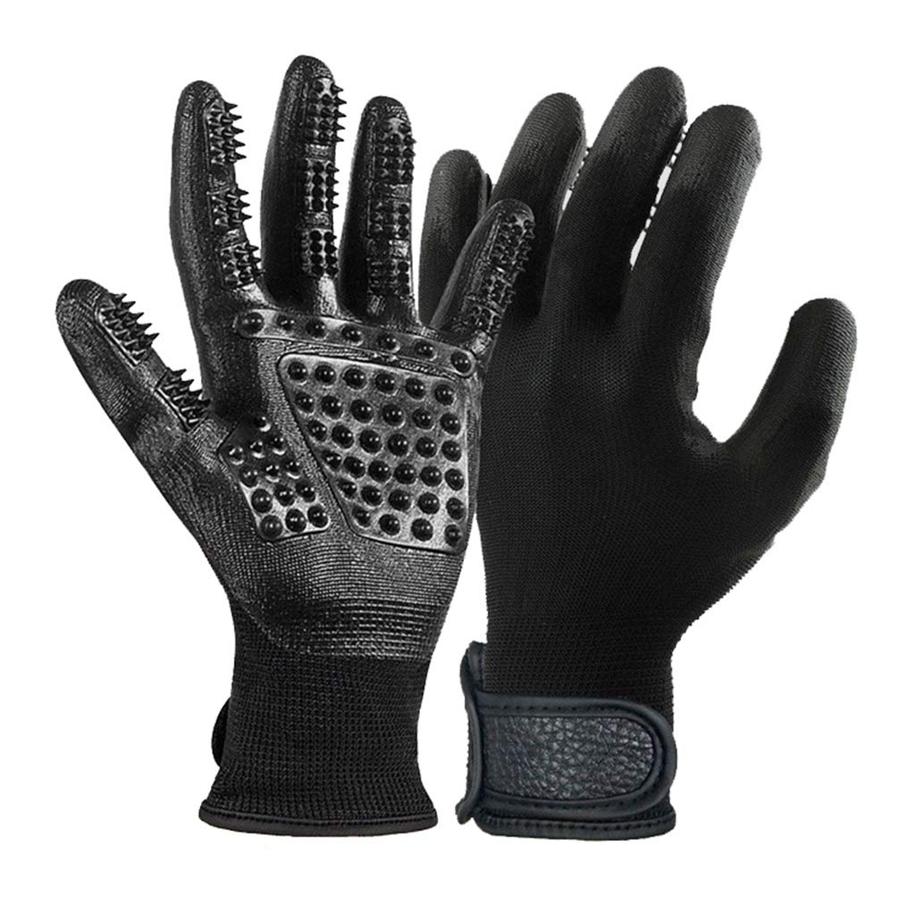 Pet Grooming Clean Massage Gloves Pet Hair Remover