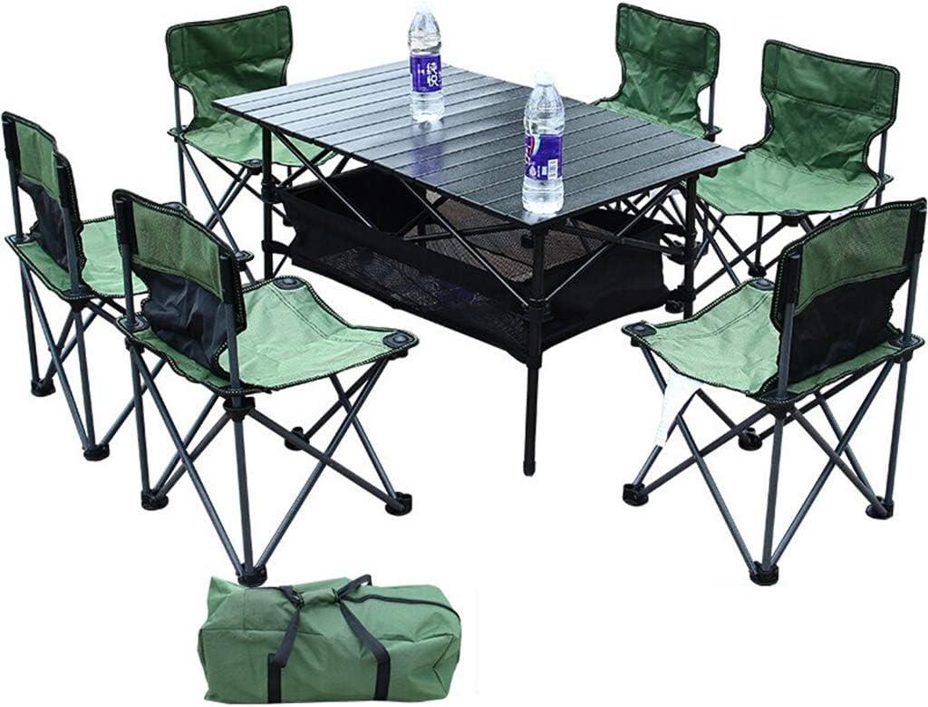 HUXIQI ROMX Juego de Mesa para sillas de Campamento, Marco Plegable y Bolsa de Transporte portátil, Ideal para Acampar, Eventos Deportivos, Playa, Viajes, Patio Trasero, Patio, etc.