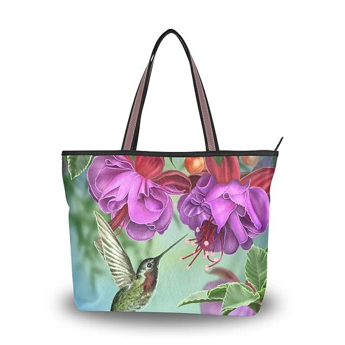 Amazon.com: Bolsas de hombro con diseño de flores y ...