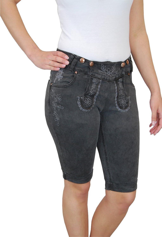 MarJo Damen Trachten Jeans Bermuda Short Nelli