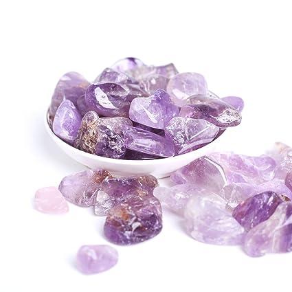 Amazon com: Hongjintian Natural Polished Amethyst Crystal