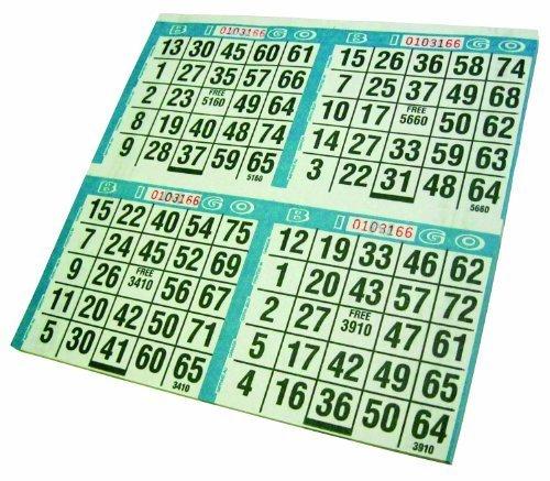 Crafty Dab Paper Primo Bingo Sheets 8-inch x 8-inch 12-500 Games by Crafty Dab