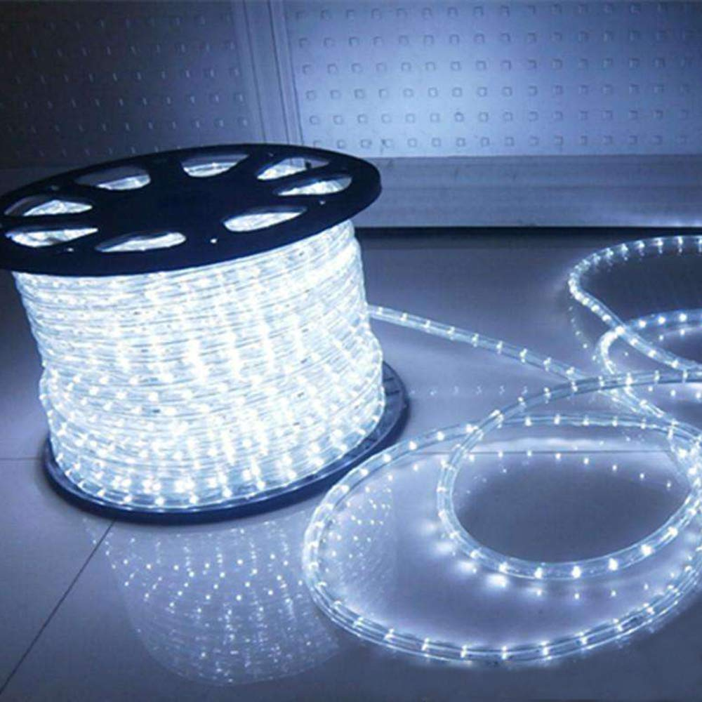 Indoor Outdoor Rope Lights ,110v 100ft Flexible led rope light Kit for Party,Wedding,Background ,Trees ,pool,Eaves Decoration with UL Certified
