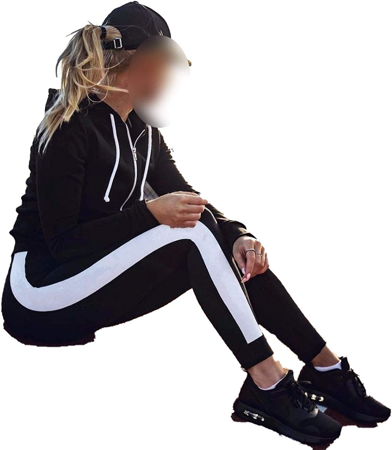 Amazon.com: Women Sport Leggings Fitness Yoga Pants Black ...
