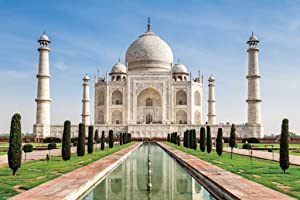 Pyramid America Taj Mahal Agra Uttar Prades India Palace White Marble Mausoleum Monument Cool Wall Decor Art Print Poster 36x24