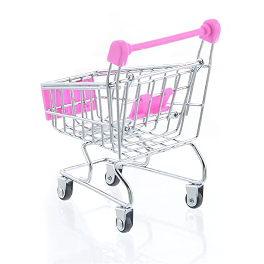 Amazon.com: Pink/ 11.5x8x12cm/ Shopping Cart Craft Decoration Trumpet Supermarket Trolley Metal Model Trolley Toy: Home & Kitchen