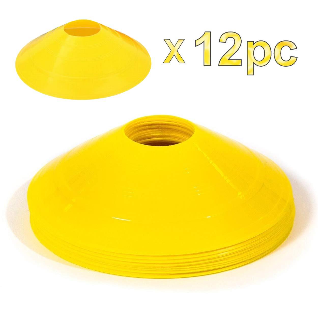 Soccer Cones Mini Agility Cones Yellow Disc, Field Cone Markers