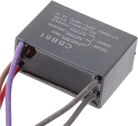 Laliva CBB61 Condensador de Ventilador de Techo 4,5 uf+6 uf+6 uf 5 ...