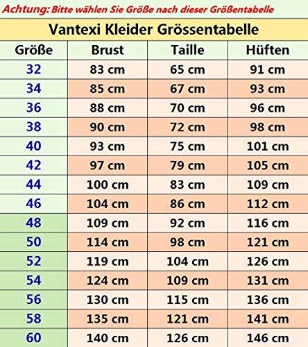 Vantexi Frauen Spaghetti-Träger Perlen Abendkleid Ballkleid Abschlussball Kleider Himmelblau a1ABY3EC6M