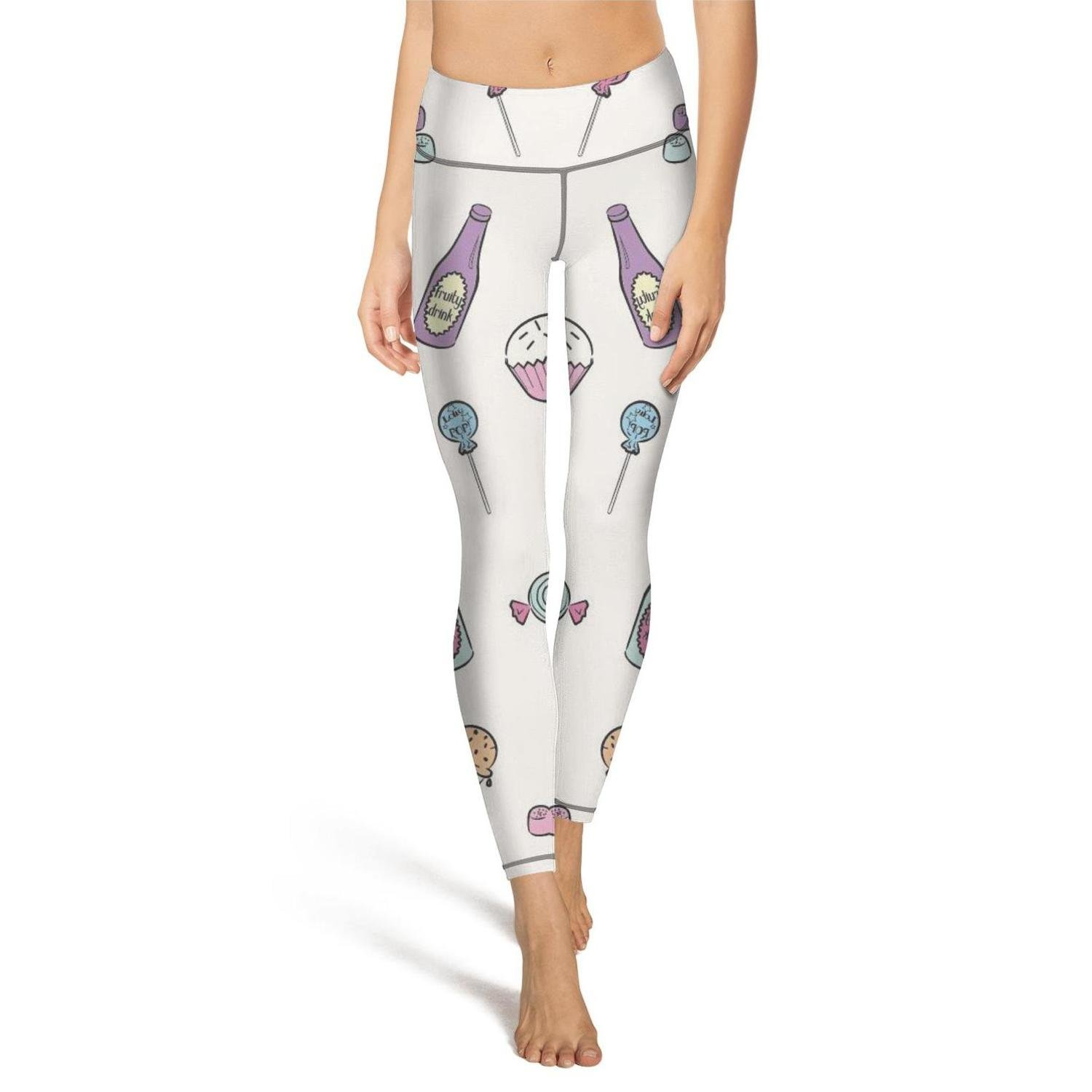 Drink Candy Icecream Small Shadfyvgf Summer Womens high Waisted Yoga Pants Deers Moose Christmas Tree Pattern Leggings Outfit