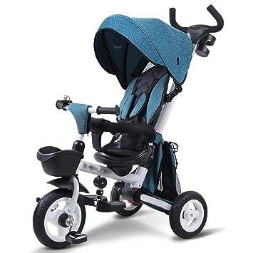 Qi Tai- Carrito de bebé Bicicleta de Tres Ruedas para niños Bebé Plegable 1-