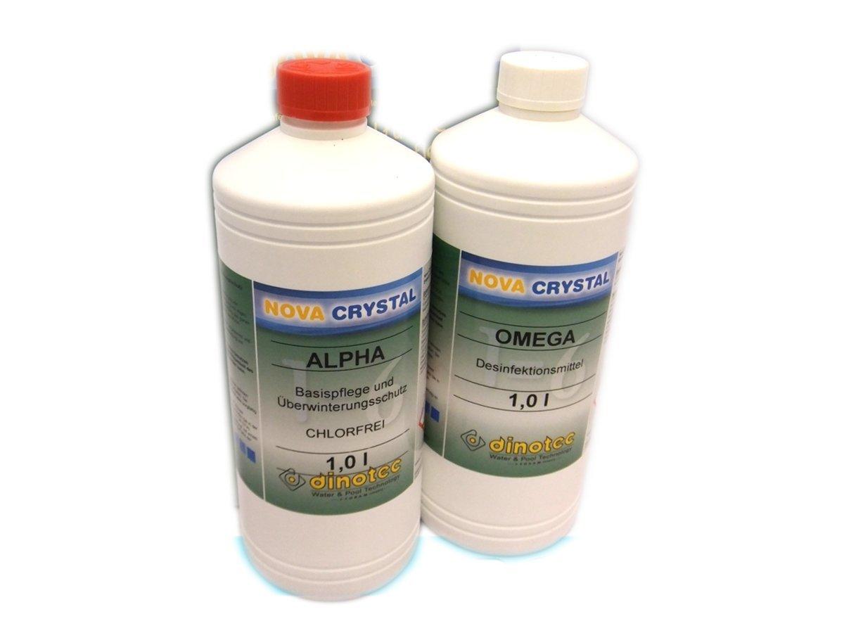 Nova Crystal chlorfreie Wasserpflege Promotion-Set 2 x 1 l (Preis je l / 34, 50 EUR) dinotec