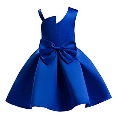Ankoee Vestido Elegante Rojo Y Azul Boda Fiesta Para Niña 2 A 10 Años Vestido De Princesa Para Dama De Honor