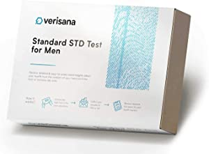 Comprehensive STD Test for Men - Check for HIV, Hepatitis C, Syphilis, Herpes Simplex Type 2, Chlamydia, Gonorrhea, Trichomoniasis - Verisana