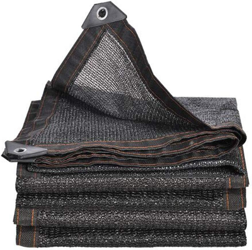 DALL 日焼け止めシェード布シェード帆90%厚く抗UV屋外バルコニーパティオ多肉植物植物カバー (Color : 黒, Size : 6×12m) 黒 6×12m