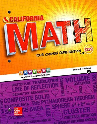 California Math Your Common Core Edition Course 3 Volume 2