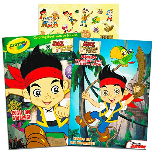 Disney® Jake and the Neverland Pirates Coloring and Activity Book Set - (2 Books ~ 96 pgs each)