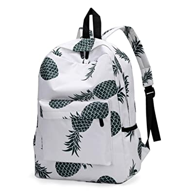 aff35d4b294 Clearance JYC 2018 Fresh Style Women Backpacks Pineapple Print Bookbags  Female Travel Backpack Thickened Canvas School Backpack Laptop Bag Shoulder  Daypack ...