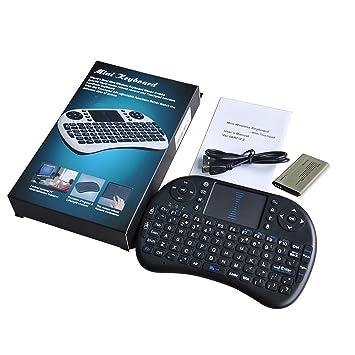 Mini teclado inalámbrico Airfly ratón portátil 2,4 gHz ratón touchpad integrado batería li-battery Multi en uno para PC Android TV Box: Amazon.es: ...