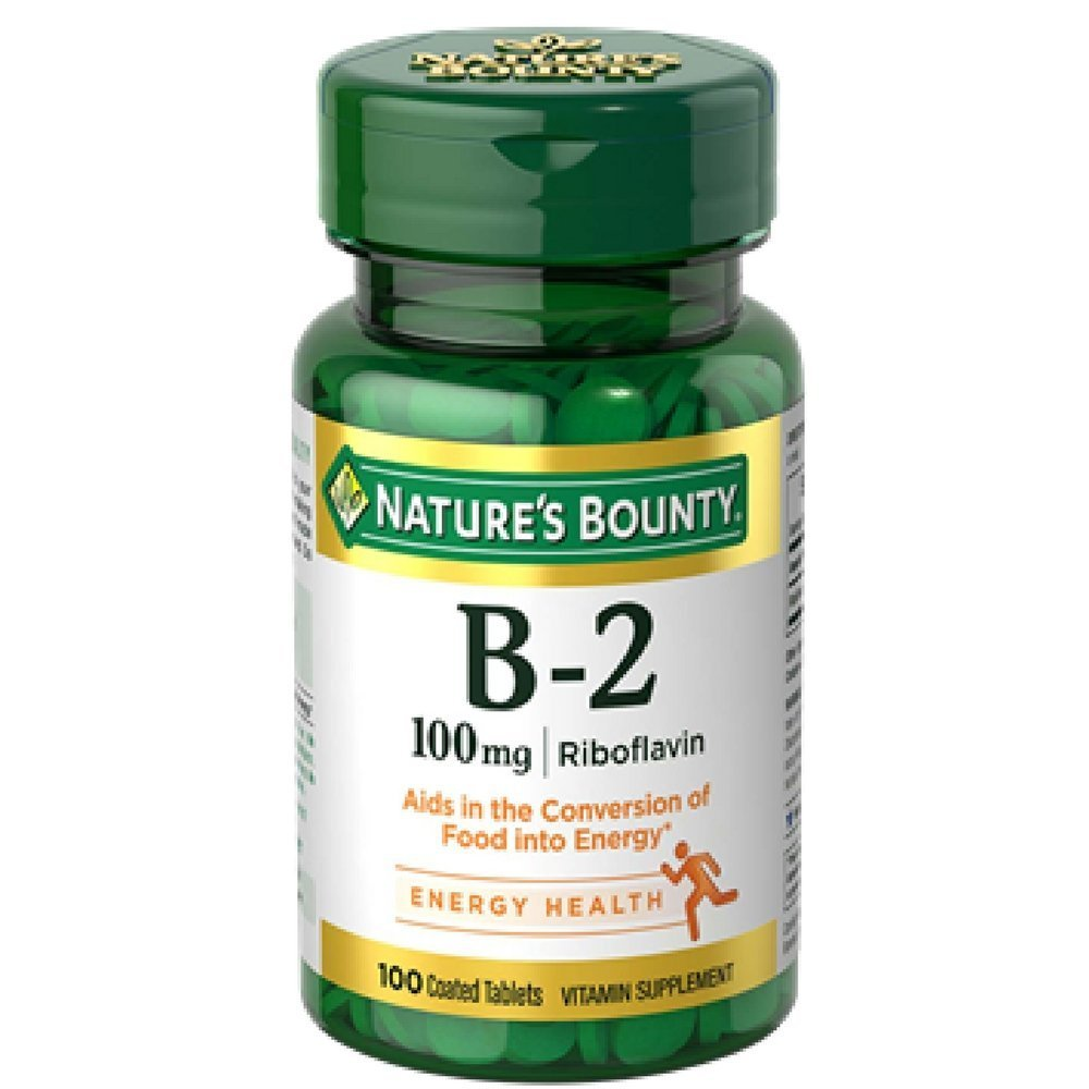 Nature's Bounty Vitamin B-2 100 mg, 100 Coated Tablets (Value Pack of 5) by Nature's Bounty