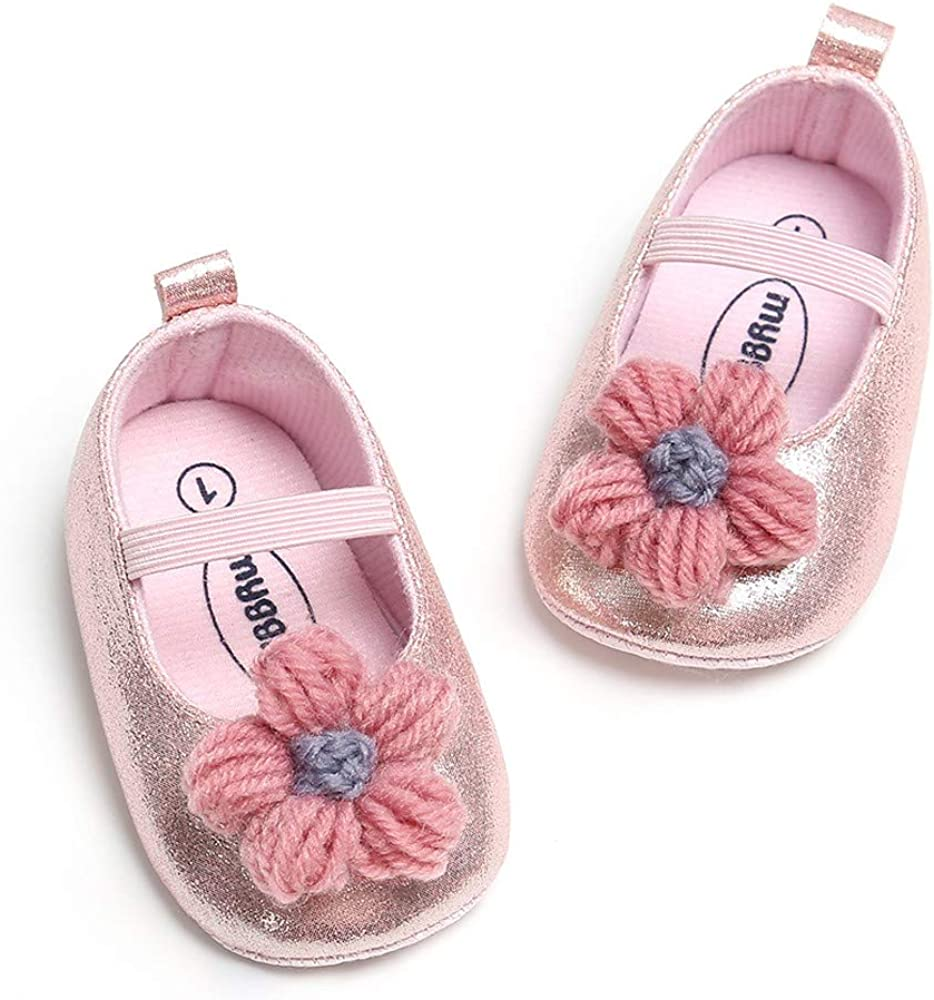 Voberry@ Infant Baby Girls Soft Sole Prewalker Crib Mary Jane Shoes Princess Light Shoes